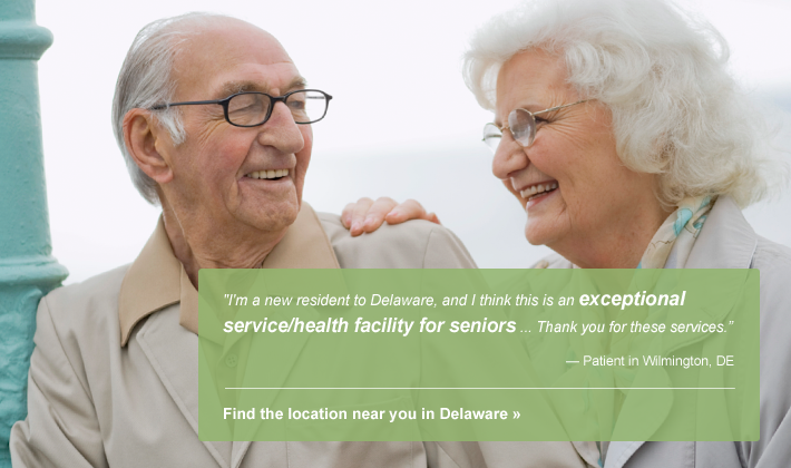 Find one of our senior care facilities in Delaware.
